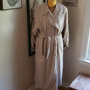 Christian Dior belted trench coat tan light weight